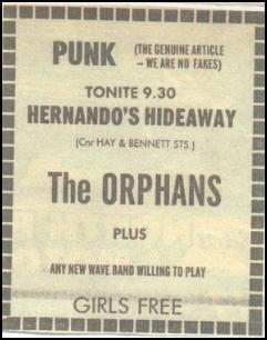 Orphans Hernando's ad 1978
