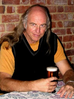 Ross Buncle with beer, April 2006