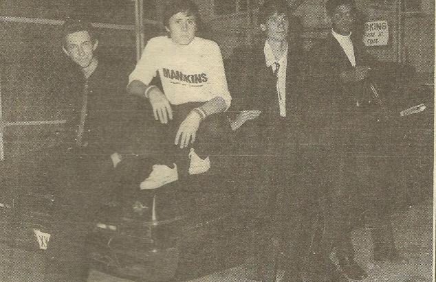 The Manikins (left to right): Ken Seymour, Mark Betts, Robbie Porritt, Neil Fernandez