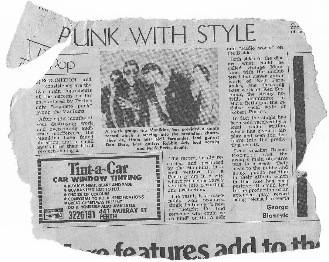 Manikins article by George Blazevic