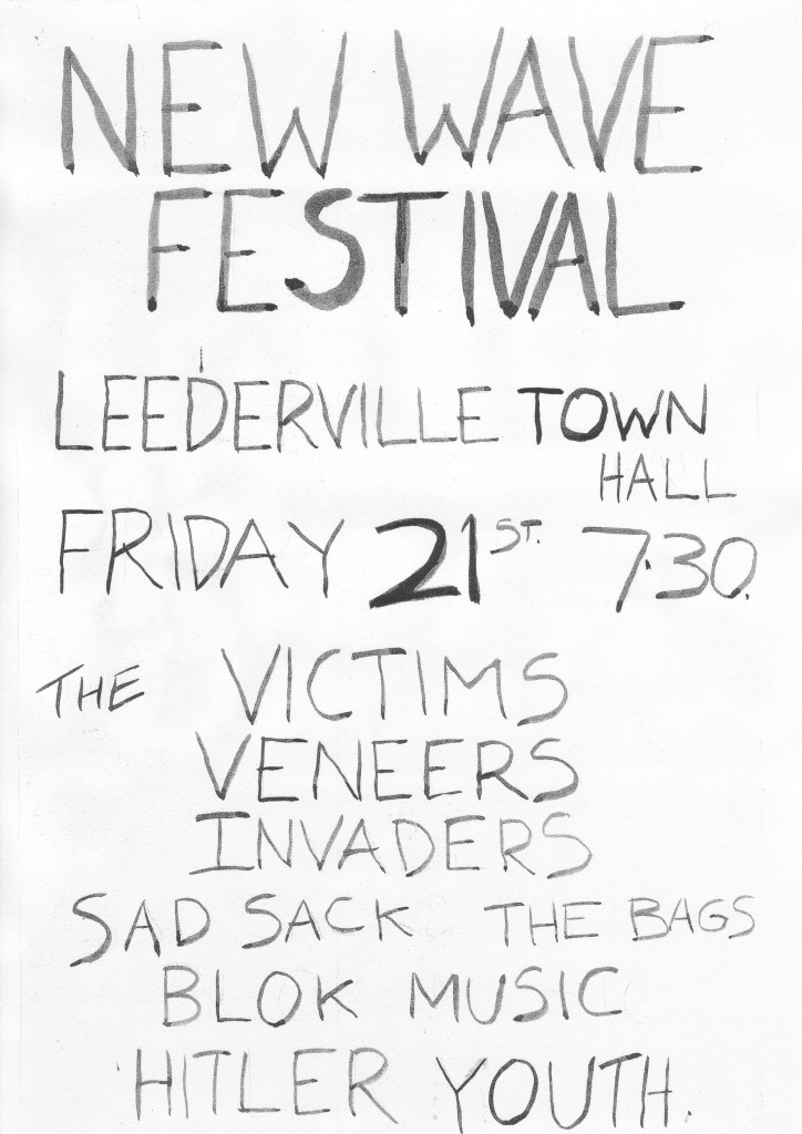 Perth Punk Festival ad from James Baker