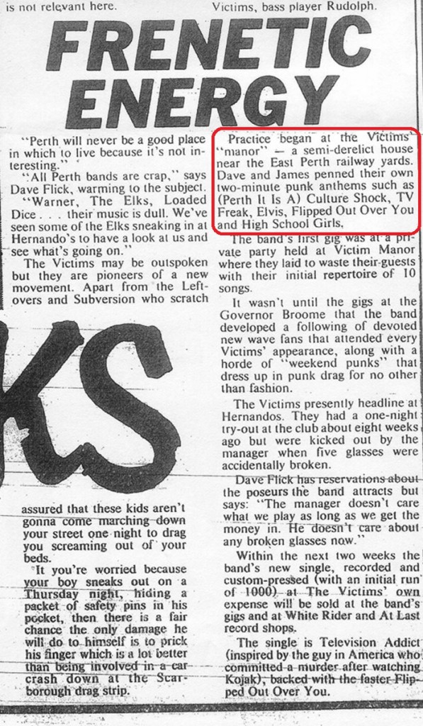 Ray Purvis' article on The Victims, The Sunday Independent, Feb 26, 1978: Part 2