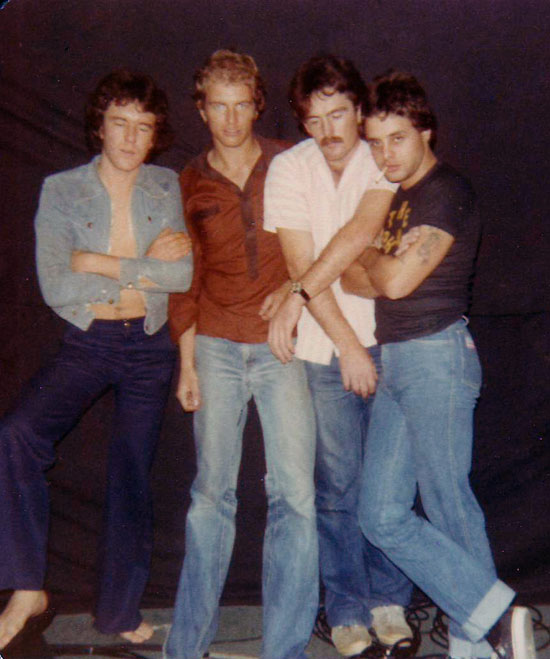 The Orphans, Perth, 1978: Max Kittler, Ross Buncle, Colin Dowson, Billy Orphan