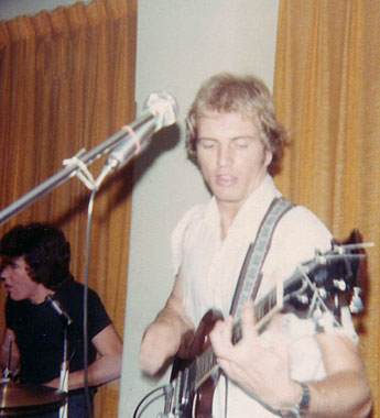 Ross Buncle and Max Kittler, Orphans gig at Hernando's Hideaway, Perth, 1978